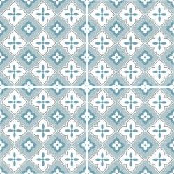Adhesif Carrelage Sol - Vendu a l'unite - PALMERA BLUE (CARRSOL040)