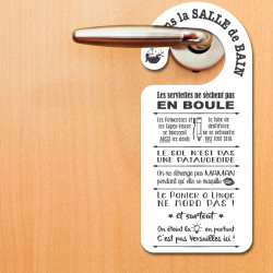 ACCROCHE PORTE PVC SALLE DE...