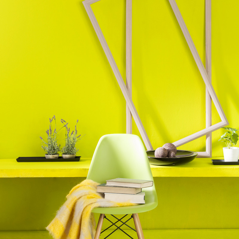 ADHESIF AU METRE ASPECT BRILLANT LEMON YELLOW