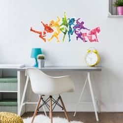 Tête de lit danseurs colorés