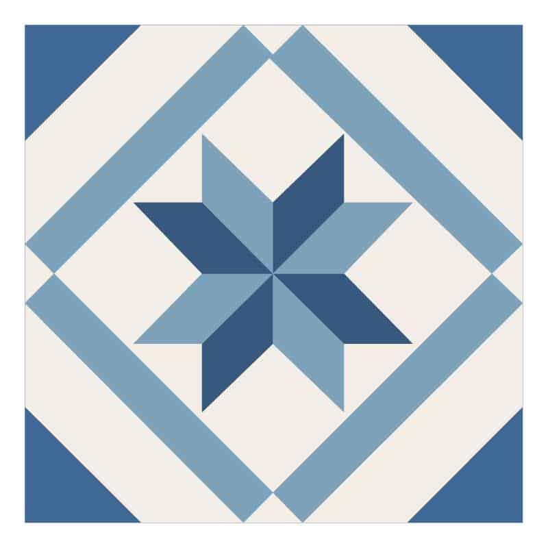 STICKERS CARREAUX DE CIMENT BLUE FLOCON (CIMENT0002)