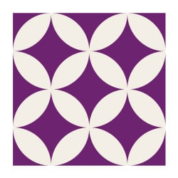 STICKERS CARREAUX DE CIMENT PURPLE (CIMENT0005)