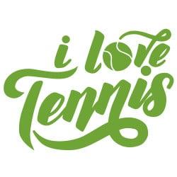 STICKER I LOVE TENNIS (I0306)