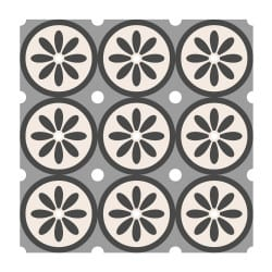 STICKERS IMITATION CARREAUX DE CIMENT DAISY (CIMENT0021)