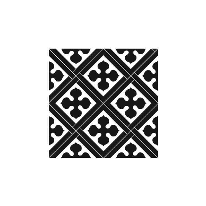 STICKERS CARREAUX DE CIMENT ROYAL BLACK (CIMENT0022)