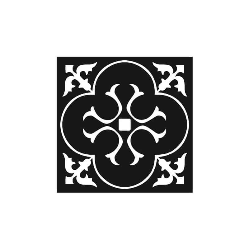 STICKERS CARREAUX DE CIMENT BLACK ARABESQUE (CIMENT0023)