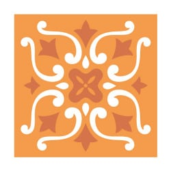 STICKERS CARREAUX DE CIMENT ORANGETAIN (CIMENT0025)
