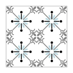 STICKERS CARREAUX DE CIMENT A L'UNITE SNOWBLUE (CIMENT0066)