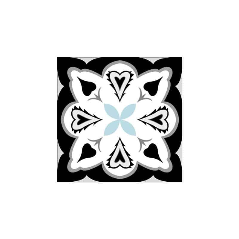 STICKERS CARREAUX DE CIMENT A L'UNITE WINGHEART (CIMENT0073)