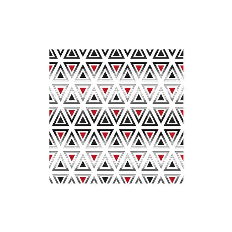 STICKERS CARREAUX DE CIMENT A L'UNITE TRIANGLES BLACKRED (CIMENT0109)