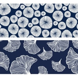 LOT DE 4 STICKER CONTREMARCHES A MOTIFS WATERLILY (CONT0060)