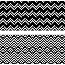 LOT DE 4 STICKER CONTREMARCHES A MOTIFS BLACK ZIGZAG (CONT0064)