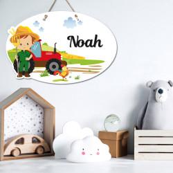 Plaque de porte fermier décoration tracteur