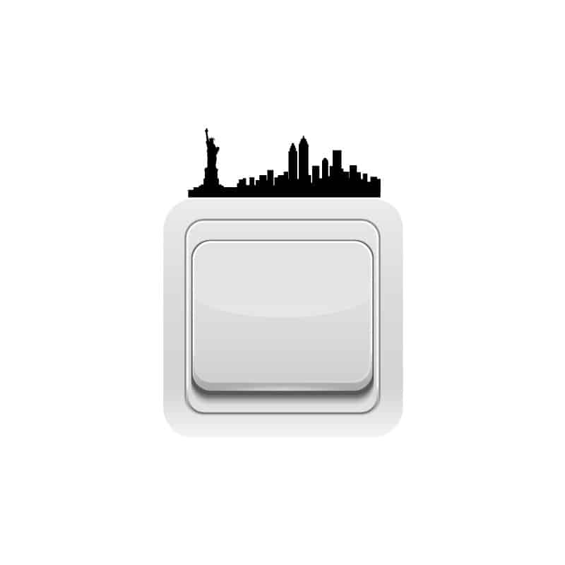 STICKER INTERRUPTEUR NEW YORK (INTERR001)