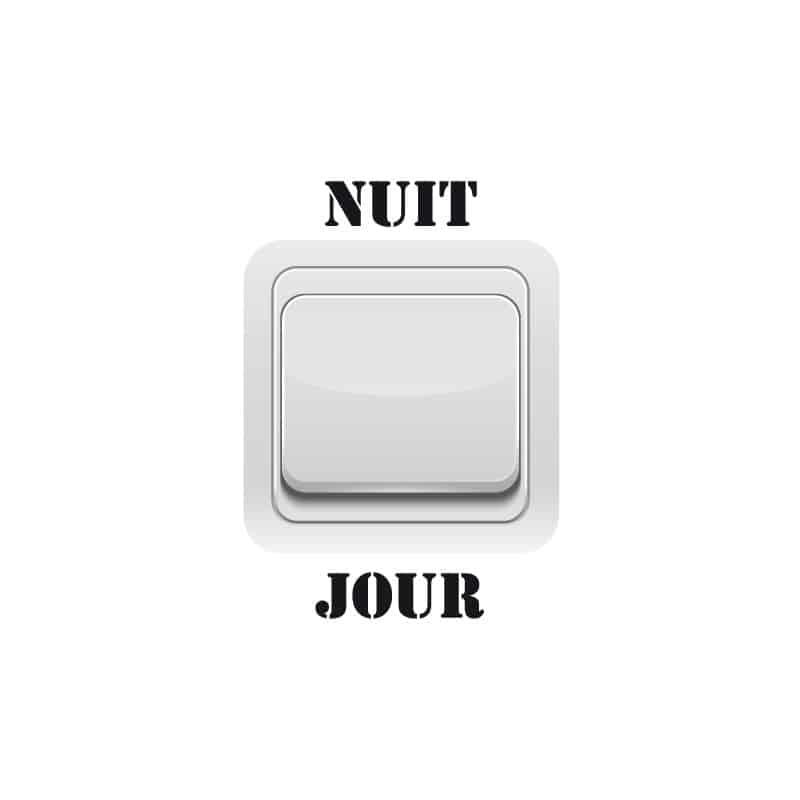 STICKER INTERRUPTEUR NUIT JOUR (INTERR003)
