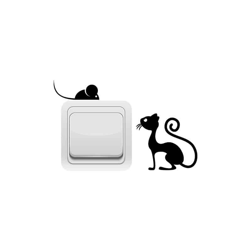 STICKER INTERRUPTEUR SOURIS CAT (INTERR015)