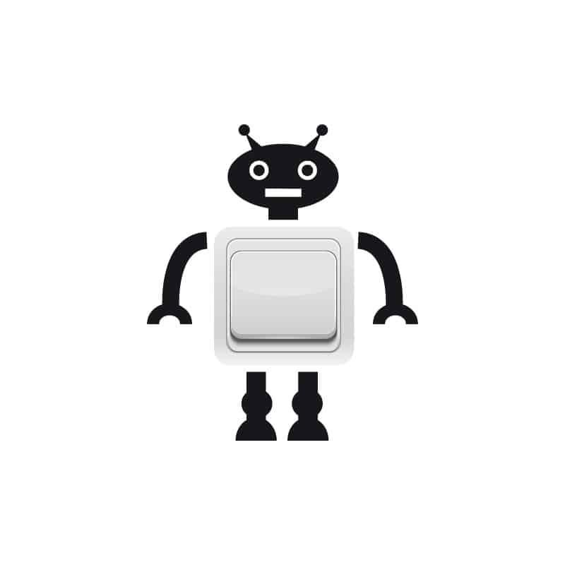 STICKER INTERRUPTEUR ROBOT WALL E (INTERR020)