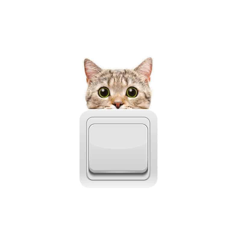 STICKER INTERRUPTEUR CURIOUS CAT (INTERR022)