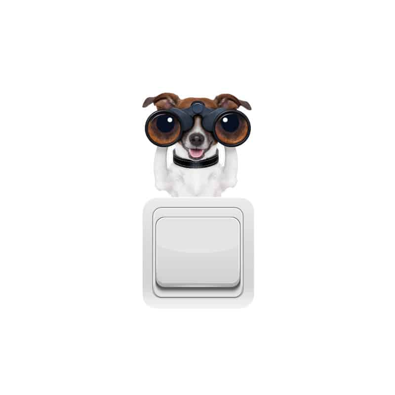 STICKER INTERRUPTEUR SPY DOG (INTERR024)