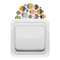 STICKER INTERRUPTEUR FISH COLOR (INTERR025)