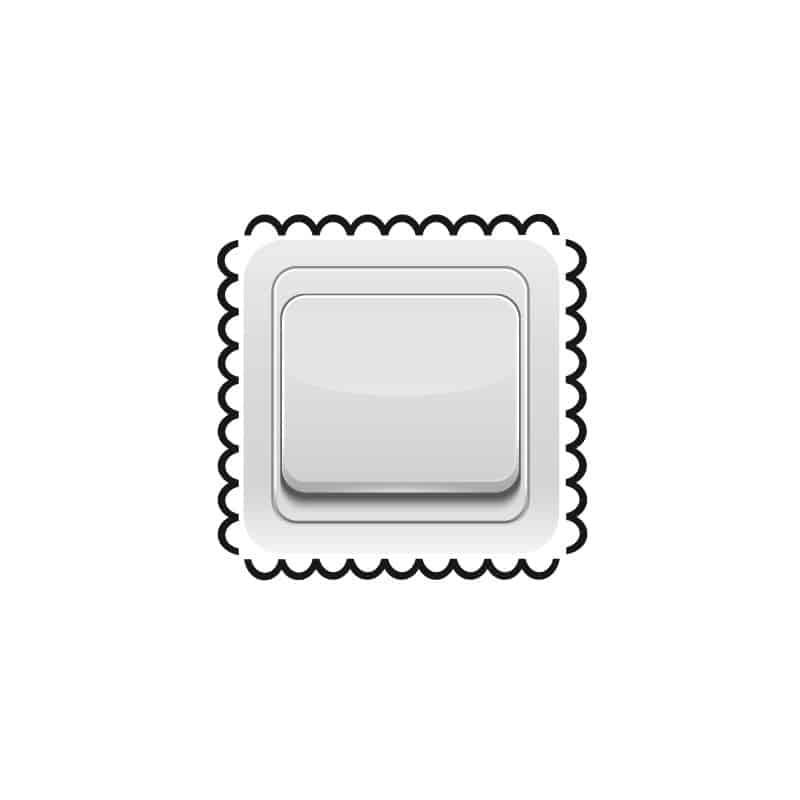 STICKER INTERRUPTEUR ORNEMENT BISCUIT (INTERR027)