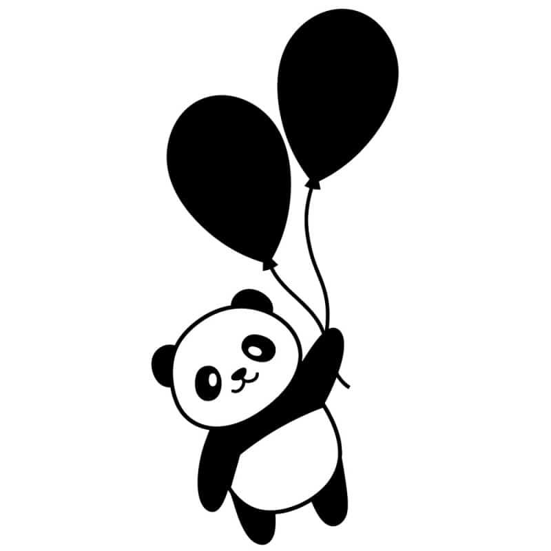 STICKER INTERRUPTEUR PANDA BALLONS (INTERR037)