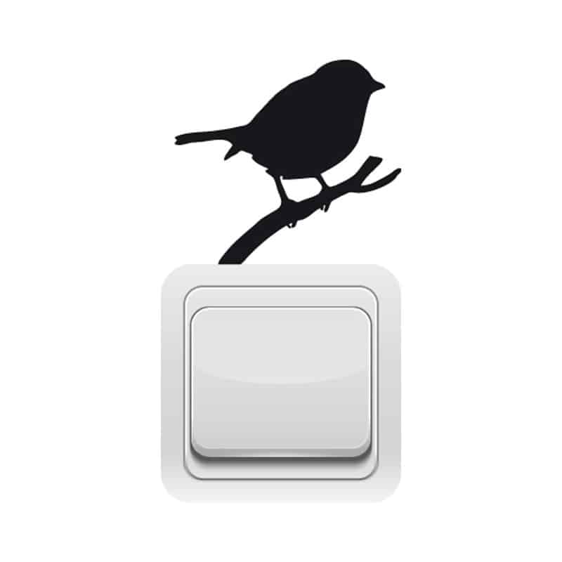 STICKER INTERRUPTEUR OISEAU (INTERR040)