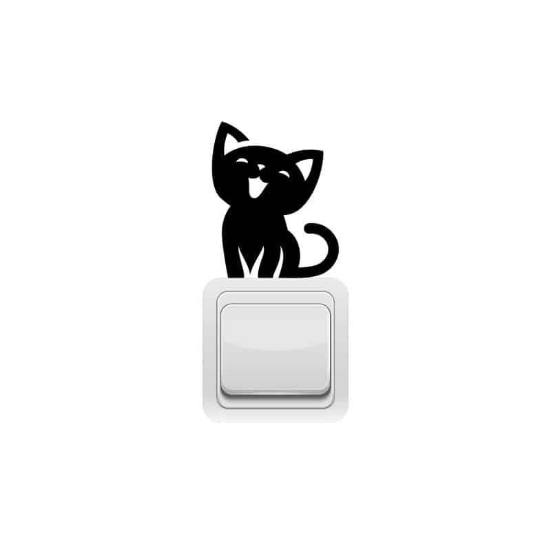 STICKER INTERRUPTEUR CHAT MIAOU (INTERR062)