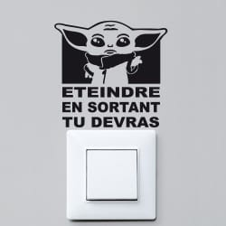 STICKER INTERRUPTEUR BEBE YODDA (INTERR072)