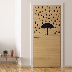 STICKER DE PORTE LITTLE RAIN (PORTE006)