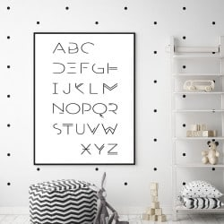 POSTER ALPHABET ADULTE GRAPHIQUE (POST0005)
