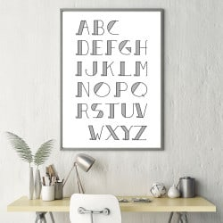 POSTER ALPHABET ADULTE RETRO (POST0006)