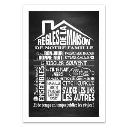 POSTER LES REGLES DE LA MAISON VERSION ARDOISE (POST0026)