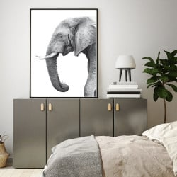 POSTER ELEPHANT NOIR ET BLANC (POST0076)