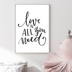 POSTER LOVE IS ALL YOU NEED (POST0106)