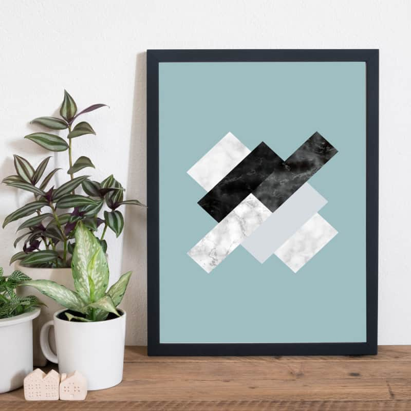 POSTER CHIC MARBRE RECTANGLE (POST0145)