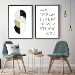 POSTER CHIC MARBRE ROND (POST0146)