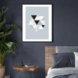 POSTER CHIC MARBRE TRIANGLE (POST0147)