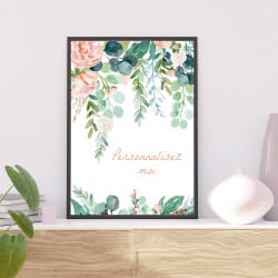 POSTER FEUILLES PERSONNALISABLE (POST0175)