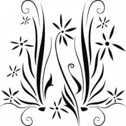 STICKER PATCHWORK FLORAL (B0097)
