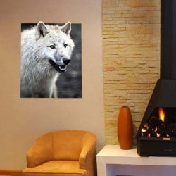 STICKERS LOUP BLANC (B0348)