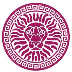 STICKERS LION ANTIQUE (B0358)