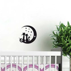 "STICKER ANIMAL ""CATS ON THE MOON"" (B0391)"