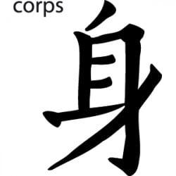 STICKERS SYMBOLE CORPS (C0029)