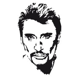 STICKER JOHNNY HALLIDAY (D0092)