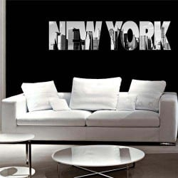 STICKERS TEXTE NEW-YORK (O0113)