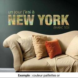 STICKER J'IRAI  NEW YORK AVEC TOI (TEXT0001)