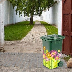 STICKERS CONTAINER FLORAL H0027