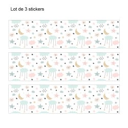 LOT DE 3 STICKERS BABY POUR TIROIRS SUR MEUBLES IKEA MALM MIMALM011