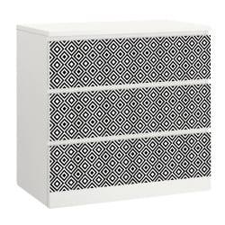LOT DE 3 STICKERS GRAPHIK POUR TIROIRS SUR MEUBLES IKEA MALM MIMALM012